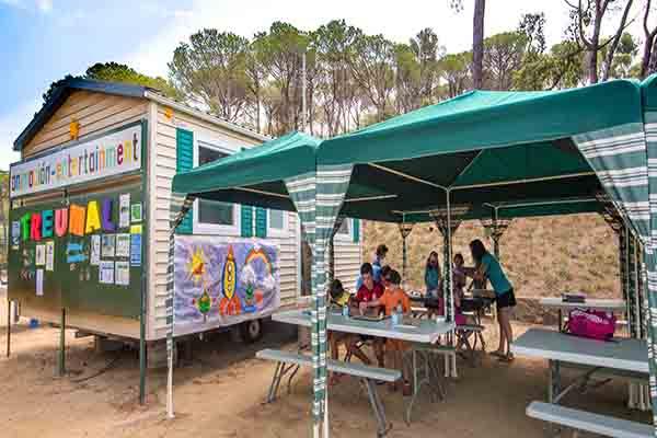 Camping Treumal-Animation Plage Enfants