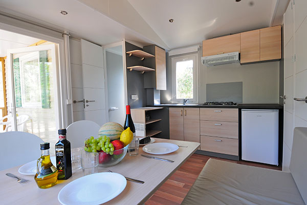Camping Treumal-Interieur Mobil-Home