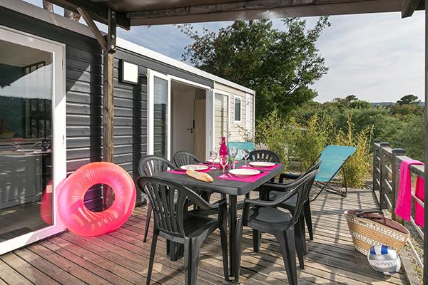 Camping Le Grand Calme-Mobil home terrasse